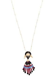 Etro Bead and crystal-embellished pendant necklace