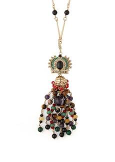Etro Beaded crystal-embellished crown-pendant necklace