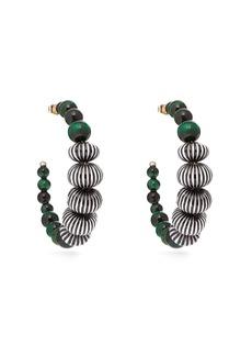 Etro Beaded hoop earrings