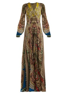 Etro Bloodstone paisley-print silk gown