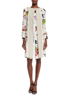 Etro Blossom Long Straight Coat