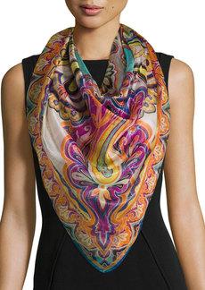 Etro Bombay Metallic Paisley Silk-Blend Scarf