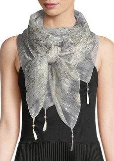 Etro Bombay Silk Scarf w/ Tassels