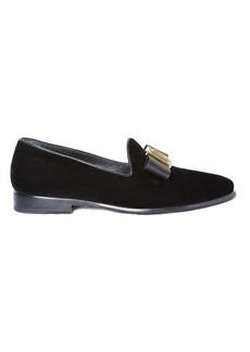 Etro Bow velvet loafers