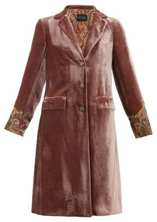 Etro Bristol beaded-cuff velvet coat
