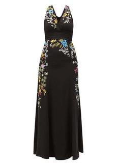 Etro Bristol floral-embroidered silk gown