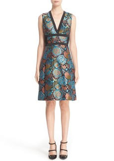 Etro Brocade Fit & Flare Dress