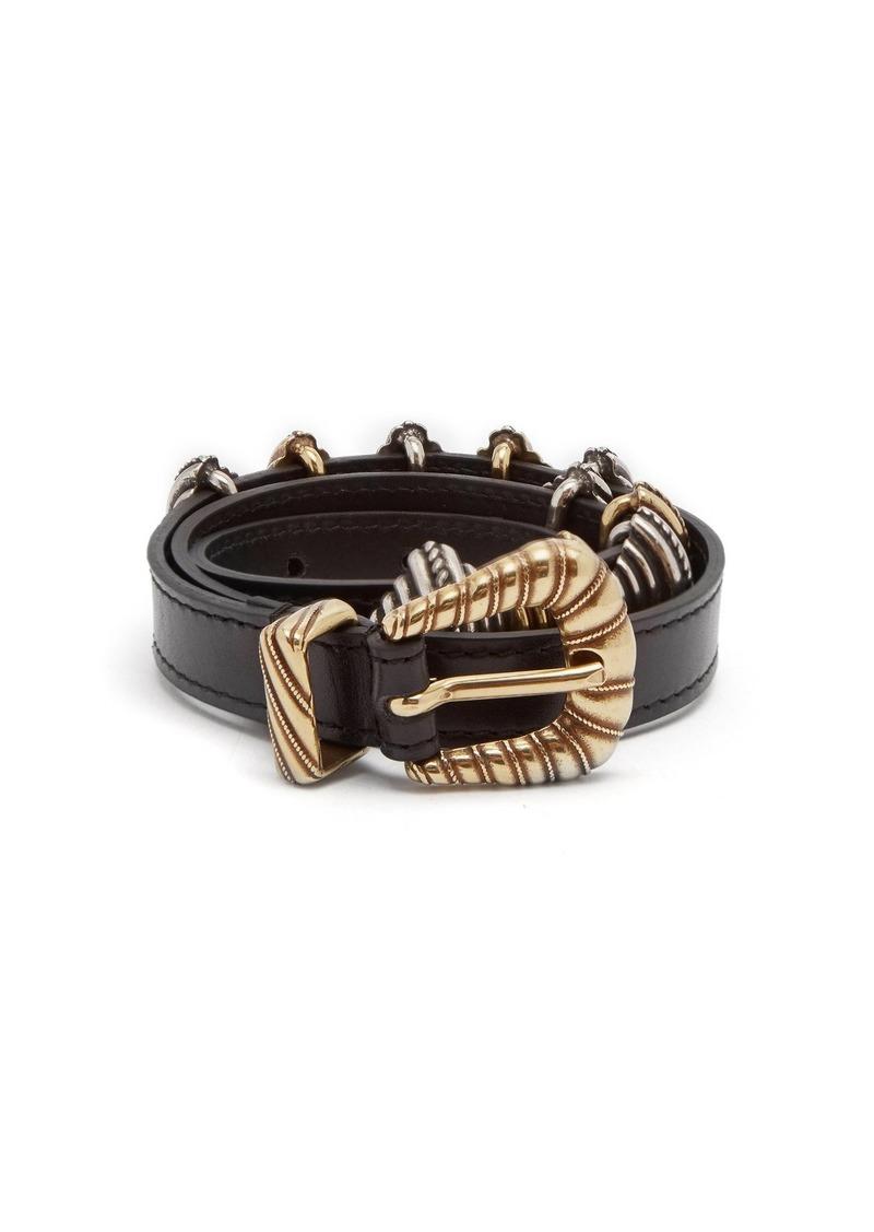 Etro Buckle-embellished leather waist belt
