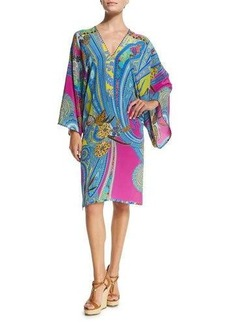 Etro Butterfly Paisley-Print Tunic Coverup