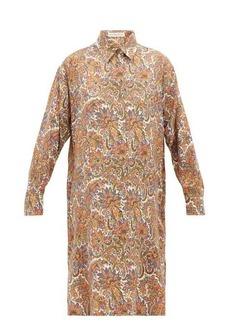 Etro Cactus paisley-print wool-blend shirtdress