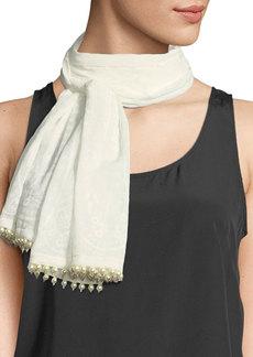 Etro Calcutta Cotton/Silk Scarf with Beading
