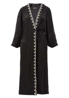Etro Campaerio embroidered-edge jacquard satin tunic