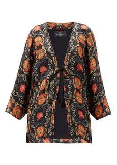 Etro Campeiro floral-print silk-blend jacket