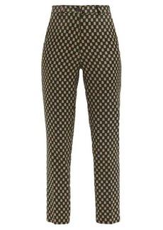 Etro Capri jacquard tailored trousers