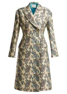 Etro Carmen paisley-jacquard cotton-blend coat