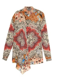 Etro Carpet-print silk-georgette blouse