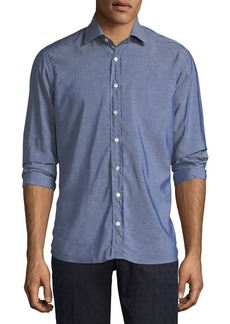 Etro Chambray Long-Sleeve Shirt