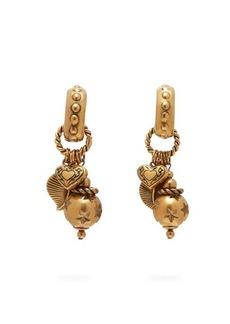Etro Charm-drop hoop clip earrings