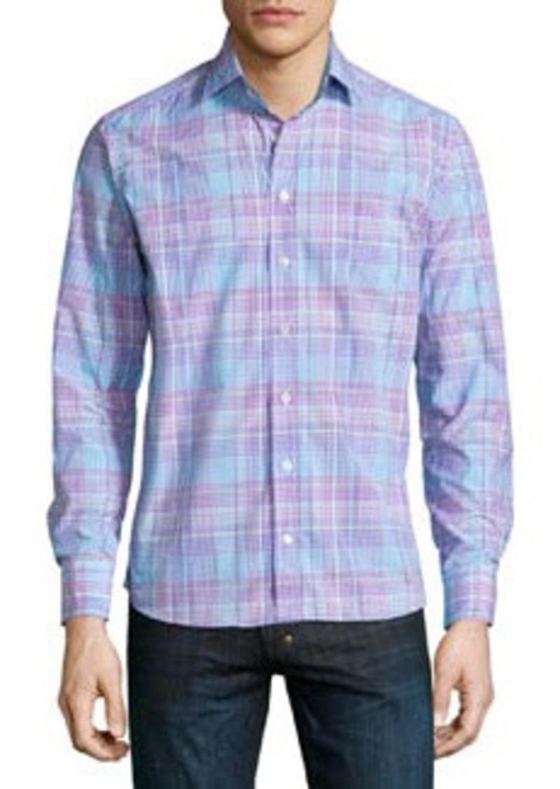 Etro Check Long-Sleeve Sport Shirt