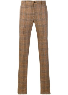 Etro check straight-leg trousers - Brown
