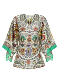 Etro Chiquitisi floral-print silk crepe de Chine top