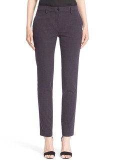 Etro Circle Jacquard Stretch Cotton Pants