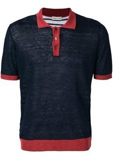 Etro colour block polo shirt - Blue