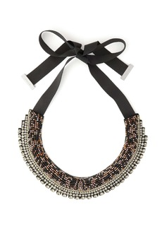 Etro Crystal and bead satin necklace
