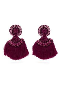 Etro Crystal-embellished fringed clip earrings