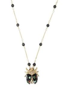 Etro Crystal-embellished ladybird pendant necklace