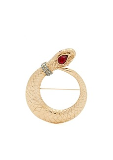 Etro Crystal-embellished snake brooch
