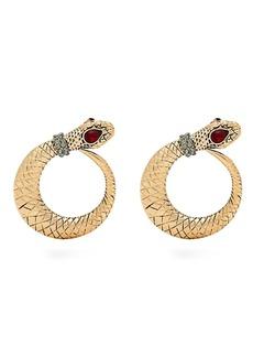 Etro Crystal-embellished snake earrings