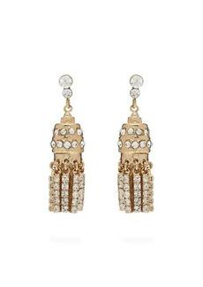 Etro Crystal-embellished tassel earrings