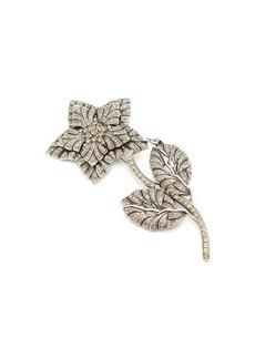 Etro Crystal-flower brooch