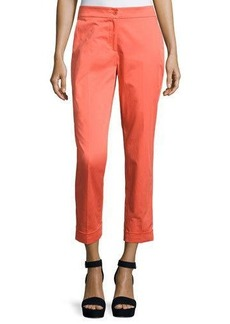 Etro Cuffed Straight-Leg Capri Pants