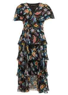 Etro Cumbria floral-print silk-chiffon midi dress
