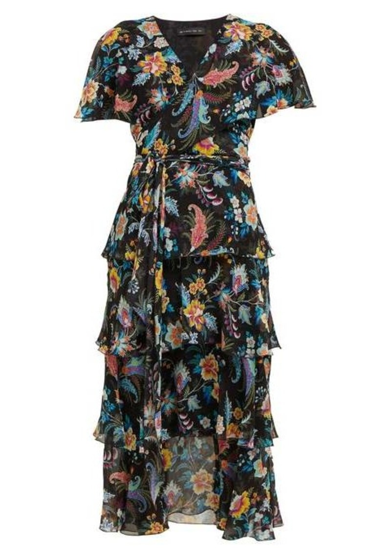 Etro Cumbria floral-print silk-chiffon midi dress