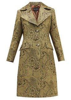 Etro Cumbria single-breasted paisley-brocade coat