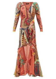 Etro Dahlia ruffled-skirt printed-voile maxi dress