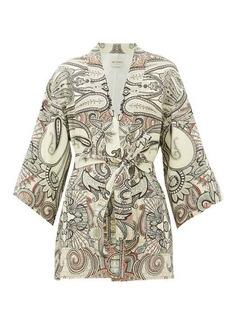 Etro Dalia paisley-print wool-blend jacket