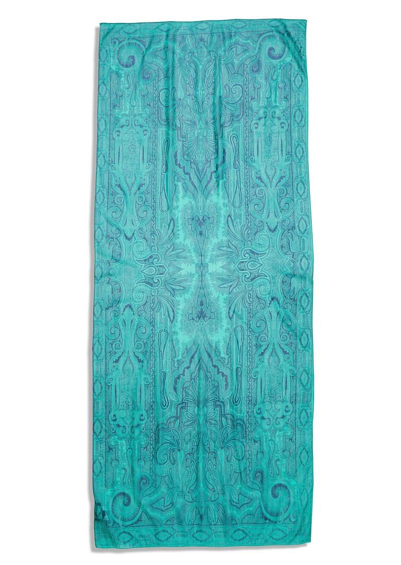 Etro Delhy Floral Silk Scarf