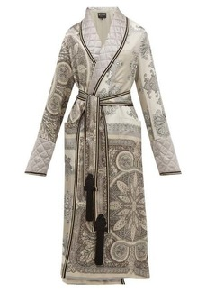 Etro Derby paisley-print quilted-satin robe coat
