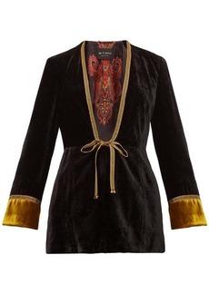 Etro Derbyshire embroidered velvet jacket