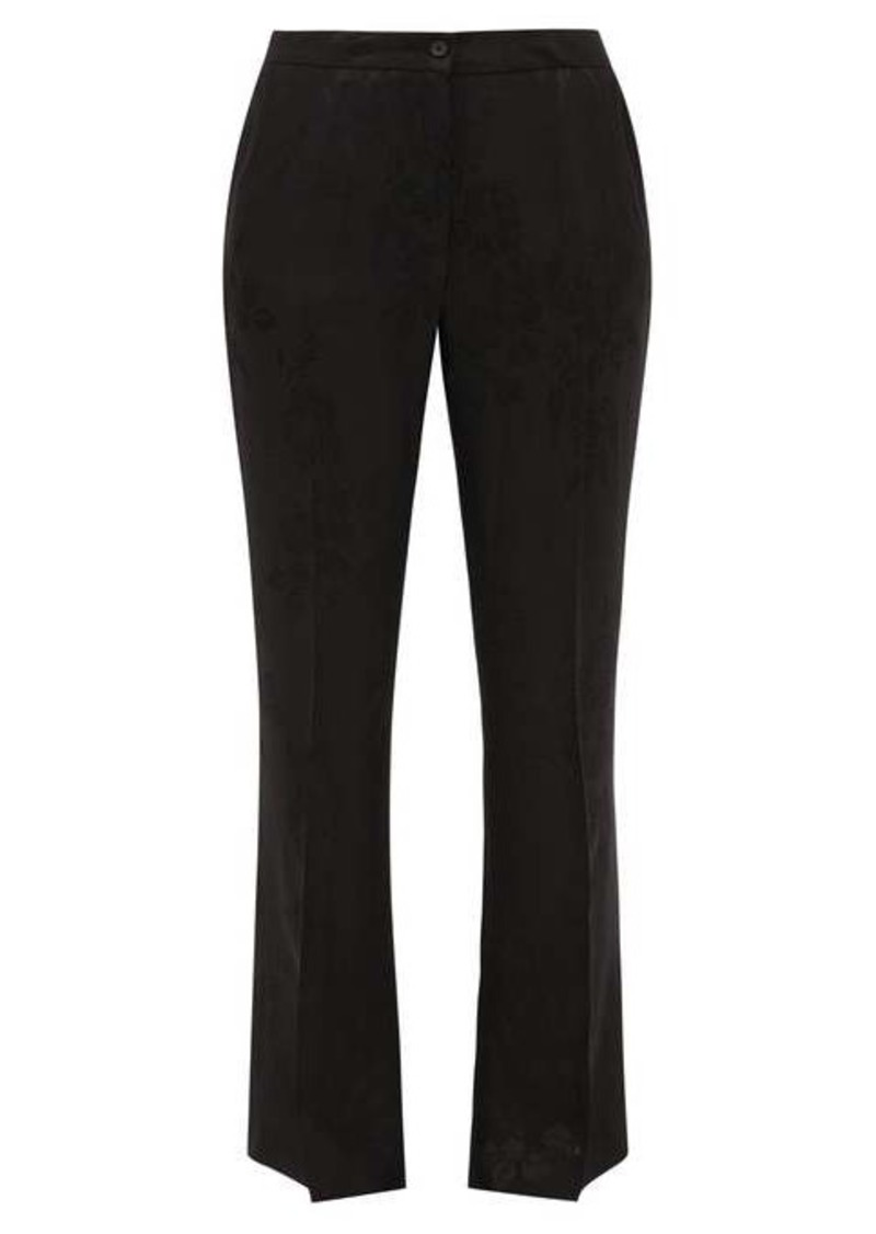 Etro Devon floral-jacquard flared trousers