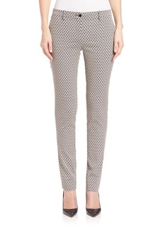 Etro Diamond Floral Jacquard Pants