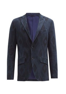 Etro Diamond-jacquard cotton-blend tweed blazer
