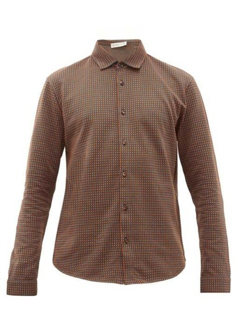 Etro Diamond-jacquard cotton-jersey shirt