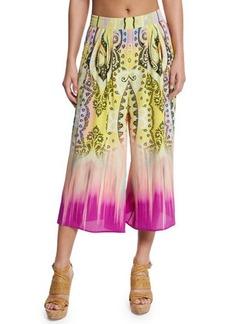 Etro Dip-Dye Paisley-Print Culottes