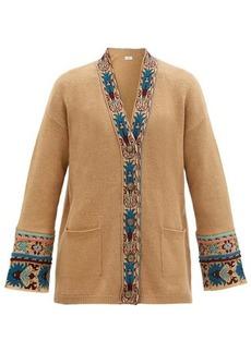 Etro Dongola jacquard-trim wool-blend cardigan
