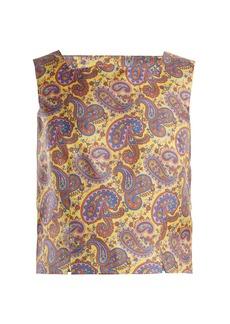 Etro Dorado paisley-print silk twill top